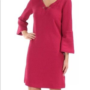 NWT KENSIE Bell Sleeve Shift Dress Burgundy Large